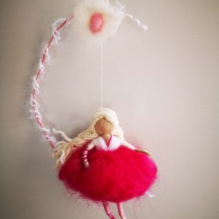 Bailarina con falda rosa