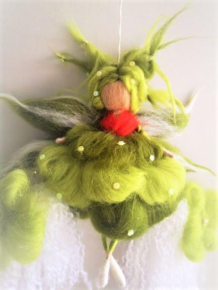 Hada verde de lana