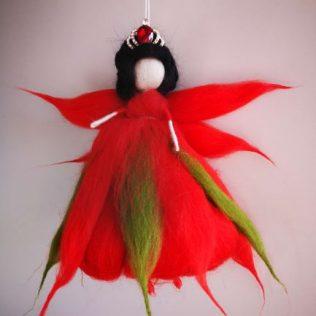 Reina Hada de color rojo